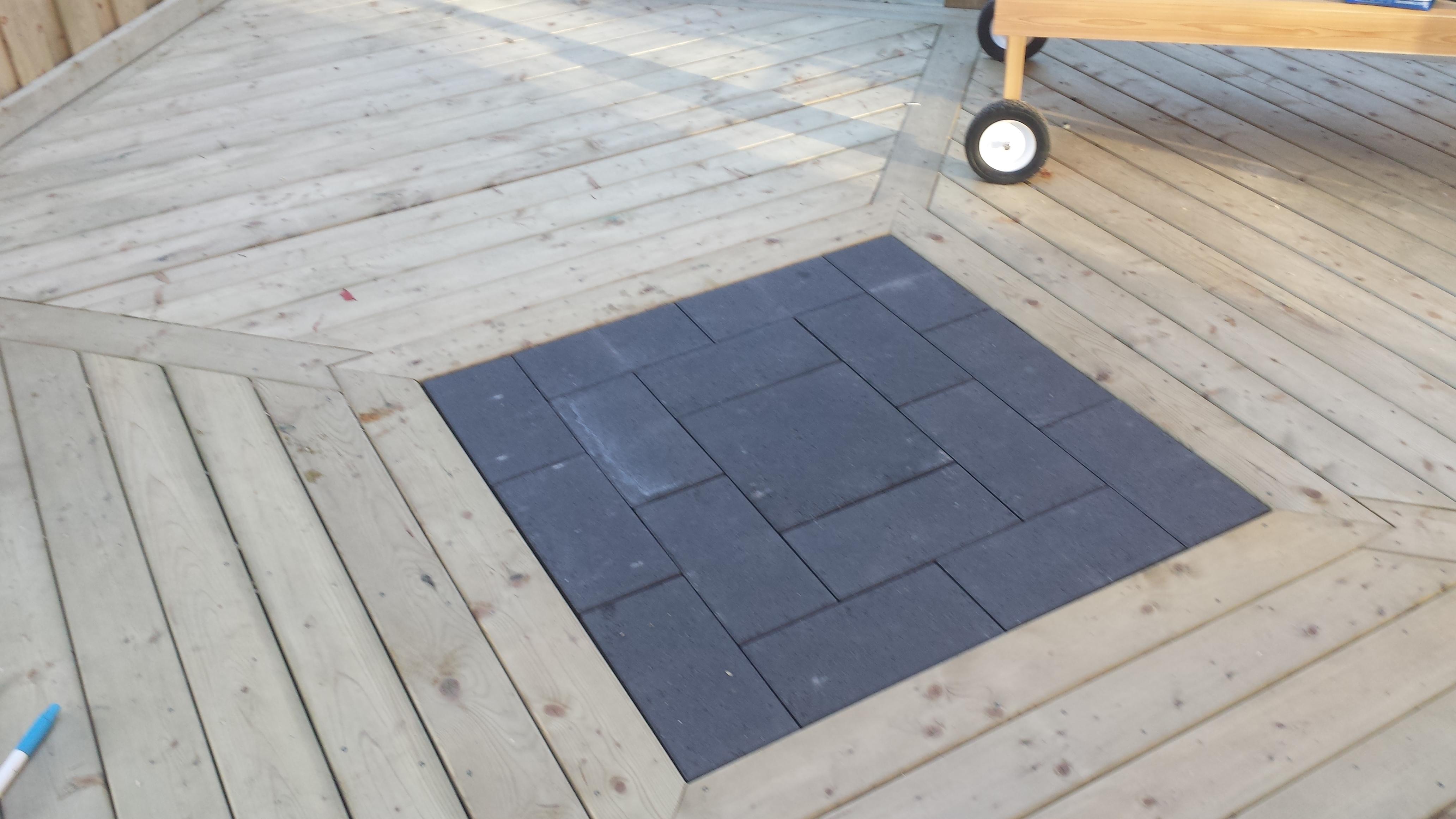 Wooden Deck Stone Interlay 2