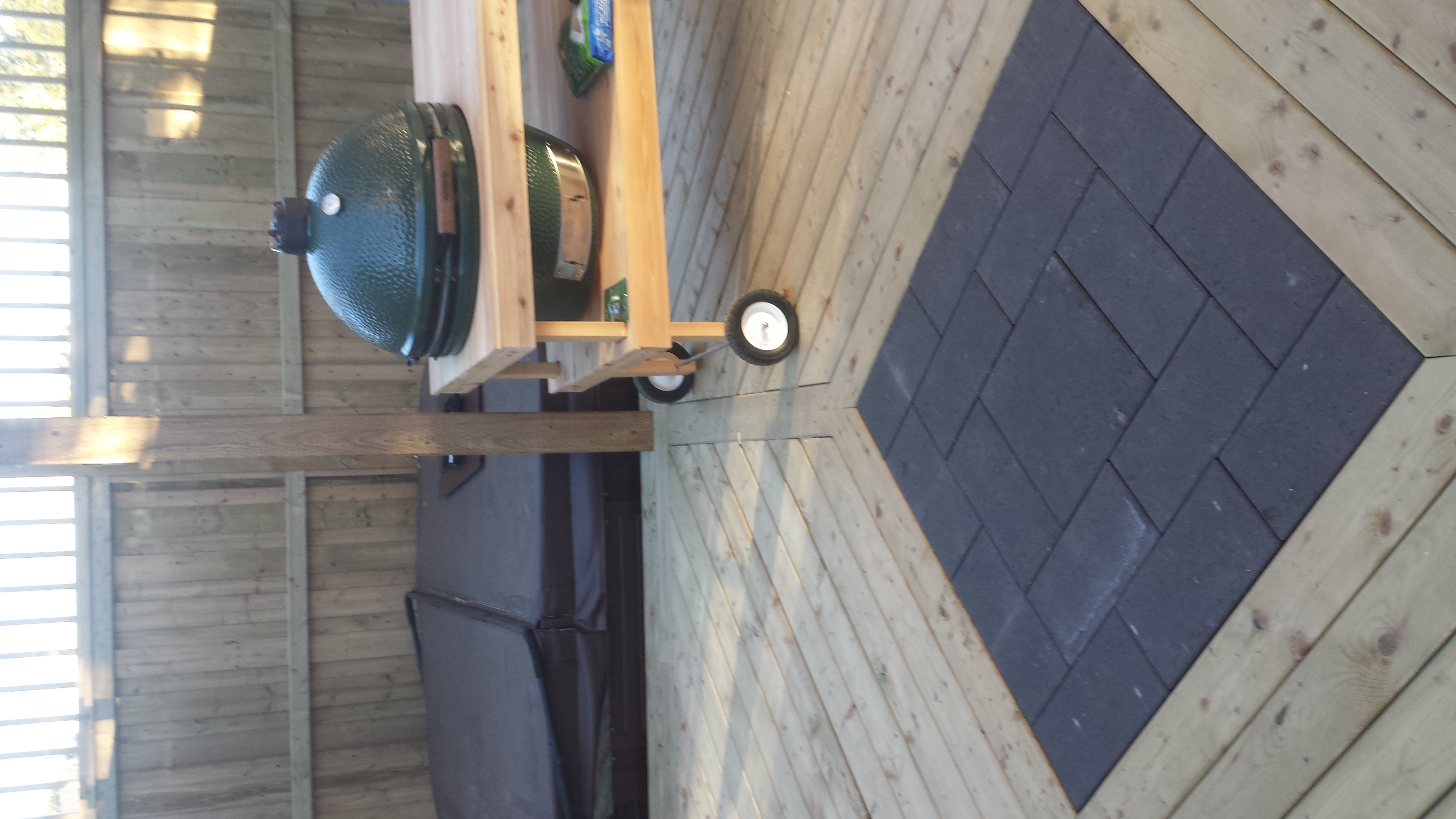 Wooden Deck Stone Interlay